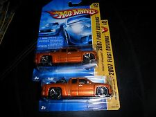 2 LOT Hot Wheels Chevy Silverado TRUCK 2007 First Edition & Bike BK Orange 20/36