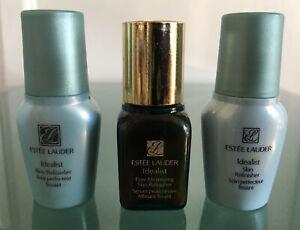Lot of 3 Estēe Lauder Idealist Skin Refinish / Pore Minimizing Serum 0.24 fl oz