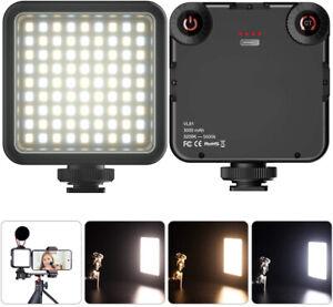 Videolicht LED Kamera Licht Dimmbar Bi-Color Videoleuchte Kompakt Mini Fotolicht