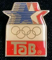 Rare Vintage 1980 LAOC 1984 Los Angeles Olympics Tab Soft Drink Pin! WPIN118
