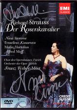 2DVD Nina STEMME HARTELIUS Signed STRAUSS DER ROSENKAVALIER Kasarova Welser-Möst