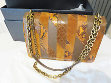 PRADA in pelle coccodrillo e SNAKE SKIN Patch Bag NEW intatte