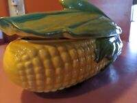 Shawnee  Corn  Casserole Dish  with Lid  #74