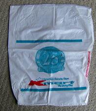 RARE vintage 1987 KMART 25th anniversary plastic SHOPPING BAG shopping mall OLD