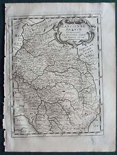 1648 BRIET COPPER ENGRAVING ATLAS MAP OF ANCIENT FRANCE NORTH REGIONS