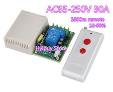 AC 120V 230V Far Distance High Power 30A Relay RF Wireless Remote Control Switch