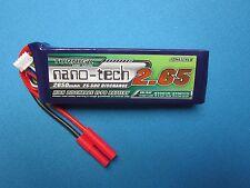 TURNIGY NANO-TECH 2650mAh 4S 14.8V 25C 50C LIPO BATTERY HXT 4MM TRUCK QUAD HELI