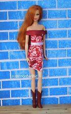 Barbie's Off Shoulder Rose Dress and Cowboy Boots