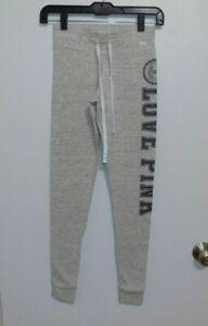 Victoria's Secret PINK size XS gray logo yoga pants- Excellent!