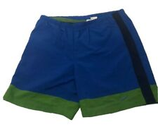 Vintage Nike White Tag Swim Vacation Trunks Shorts Blue Green Men's Size XL