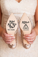Personalised Harry Potter Disney Wedding Shoe Vinyl Decal Stickers Bridal Gift