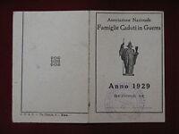 TESSERA Famiglie Caduti in Guerra 1929 SAN BENEDETTO DEL PO #T82