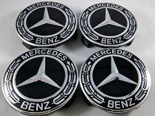 4PCS 75mm Wheel Center Caps black Fit Mercedes-Benz W203 W204 W124 W211 W212