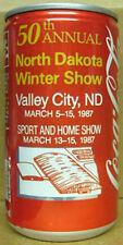 COCA-COLA 50th NORTH DAKOTA WINTER SHOW Soda CAN, Coke, 1987 issue, Grade 1