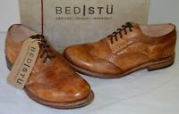 New Bed Stu Lita Oxford Wingtips Tan/Brown Driftwood Vintage Leather Cobbler