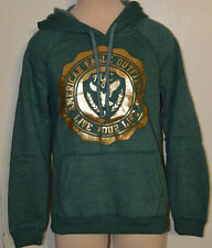 Women's American Eagle Green & Gold Pullover Long Sleeve Hoodie Sweater S, M, L