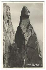 Climbing The Needle, Great Gable RP PPC, 1956 Keswick PMK to Mr Appleton, Oldham