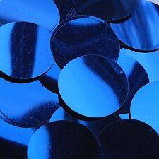 """Royal Blue Shiny Sequins Round 1.5"""" Large Couture Paillettes"""