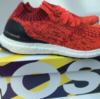 Adidas Ultra Boost Uncaged M Solar Red Core Black BB3899 Running Shoes Brand New