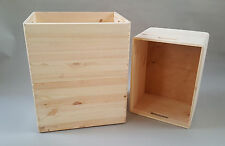 3x Wooden Large Souvenirs Box Car Trunk Plain Wood Storage Handles Chest Boxes