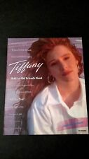 "TIFFANY  "" ALL THIS TIME ""  (1988) RARE ORIGINAL PRINT PROMO POSTER AD"