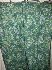 Laura Ashley BRAMBLE Berry Blue Green Floral 1'Pr (2) Lined Drapes Curtain Panel