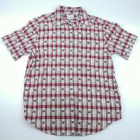 Bobbie Brooks Womens Button Up Shirt Multicolor Plaid Collared Short Sleeve