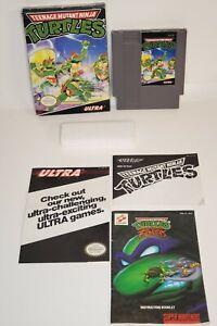 Teenage Mutant Ninja Turtles (Nintendo NES) Complete CIB Box Manual Foam Game