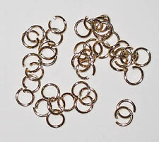 100 strong gold plated 8mm jump rings, findings for jewellery making crafts