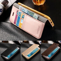 Luxury Flip Stand Leather Case Card Wallet Cover for Apple iPhone 7 6s Plus 5Ss