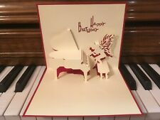 3D Pop Up Card, HAPPY BIRTHDAY PIANO FAIRY - Fast Free US Shipping