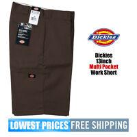 Dickies NWT Men's 13 Inch Loose Fit Dark Brown Walk Shorts W/ Cell Phone Pocket