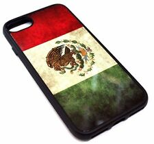 For iPhone 7 - VINTAGE MEXICO FLAG DESIGN HARD SOFT RUBBER SILICONE CASE COVER