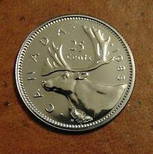 1985  CANADA quarter dollar twenty five 25 cents cent piece coin PL Proof Like
