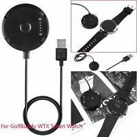 Black Charger Dock Cradle USB Charging Cable Clip For GolfBuddy WTX Smart Watch