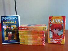 RANMA 1/2 SERIE MANGA STAR COMICS + 3 VIDEOCASSETTE (VHS) SPECIALE