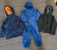 Bundle of 3 Boys 3 - 4 Years Winter Coats  / All in One Snowsuit inc Columbia