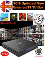 NEW UPDATED 2019 T9 4GB+32GB Android 8.1 TV Box 4K Smart HD Media Player WI-FI