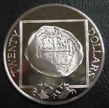 ILES VIERGES BRITANNIQUES - 20 DOLLARS 1985 - Argent - N°4
