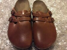 BIRKI'S BIRKENSTOCK CAMDEN SOFTFOOT STANDING TAN LEATHER WOMEN'S US 7N EU 38
