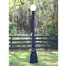 """Pole Light With Single Ball Top Antique Replica """"The Allston"""" 90 Inches Tall"""