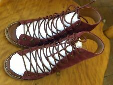8d9c669c42d6 JEFFREY CAMPBELL FOR FREE PEOPLE SUEDE LACE UP SANDAL SIZE 6-1 2 WINE