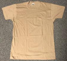 Vintage 90s Fruit of the Loom Pocket T-Shirt Single Stitch Beige Tan Khaki Sz XL