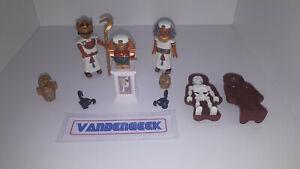 Lot personnages et accessoires Playmobil thème Egypte, Pharaons