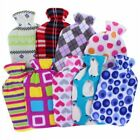 2 Litre Hot Water Bottle with Super Soft Fleece Cover Assorted Design
