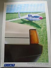 Fiat Formula Uno 45 3 door brochure Jul 1986