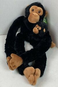 """Adventure Planet 18"""" Birth of Life Hanging Plush Monkey with Baby Black NWT #21F"""
