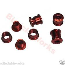 Anodised Red Chainring Bolts Studs Chain Ring Wheel Bike Bicycle BMX Track Fixie