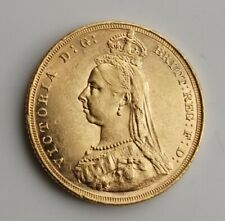 1889 Full Gold Sovereign  Victoria Jubilee Head  Melbourne Mint