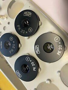 2x Okular-Paar PK 20x (8) Carl Zeiss Jena Steckdurchmesser 23,2 mm Mikroskop